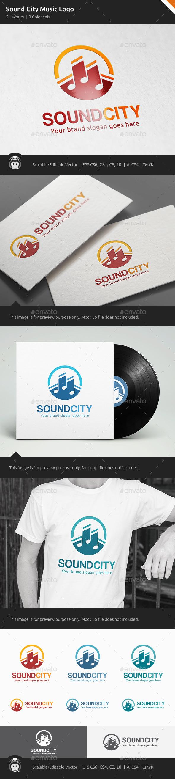 GraphicRiver Sound City Music Logo 11183033