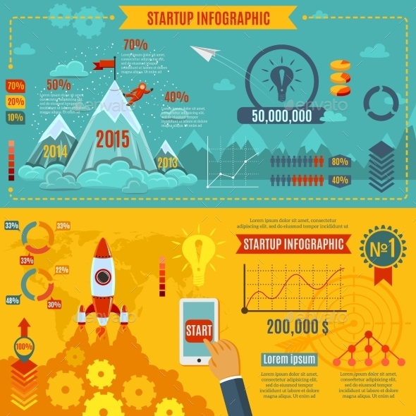 GraphicRiver Startup Infographics Set 11183041