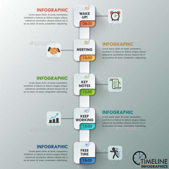 GraphicRiver Modern Infographic Paper Timeline 11183117