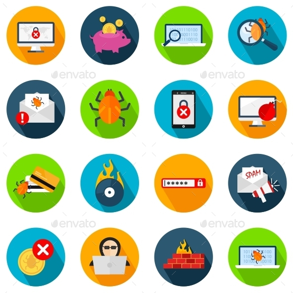 GraphicRiver Hacker Icons 11183125