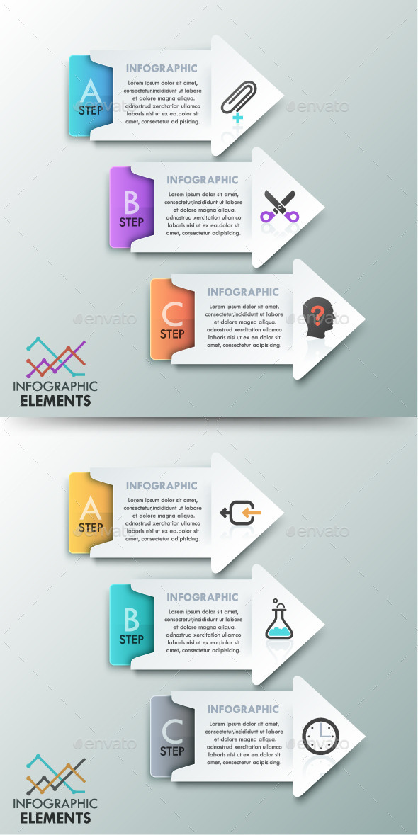 GraphicRiver Modern Infographics Options Template 2 Colors 11183229