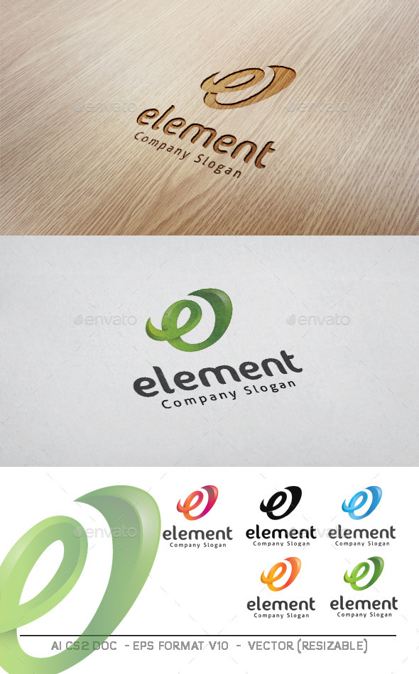 GraphicRiver E letter element Logo 11183305