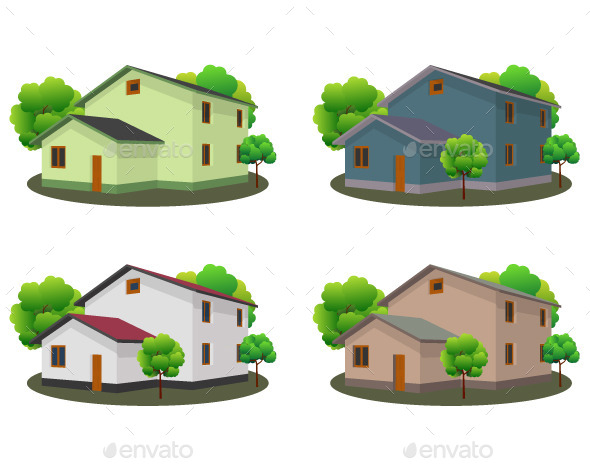 GraphicRiver Front View of Houses 11183314