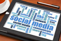 social media word cloud on tablet - PhotoDune Item for Sale