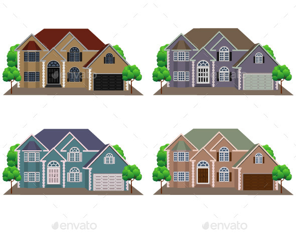 GraphicRiver Front View of Houses 11183316