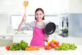 Happy smile woman in kitchen - PhotoDune Item for Sale