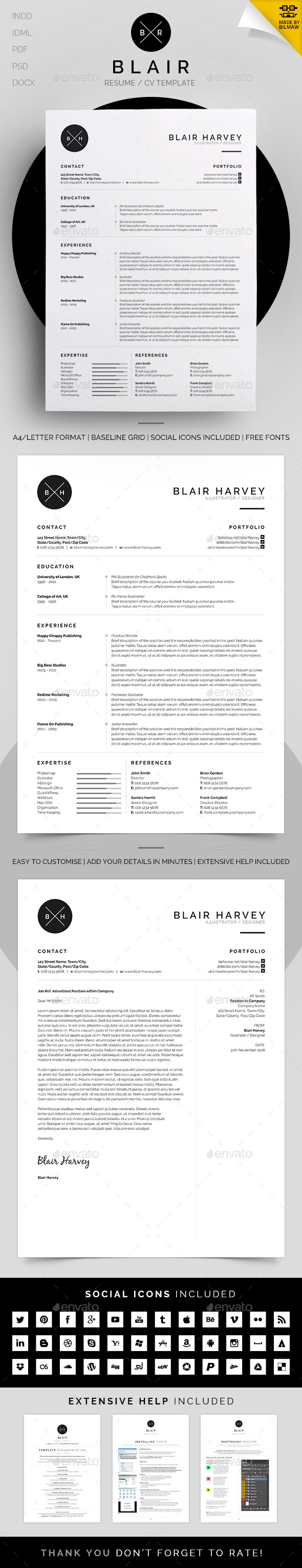 GraphicRiver Resume CV Blair 11183416