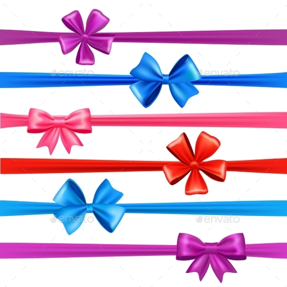 GraphicRiver Bows and Ribbons Set 11183586