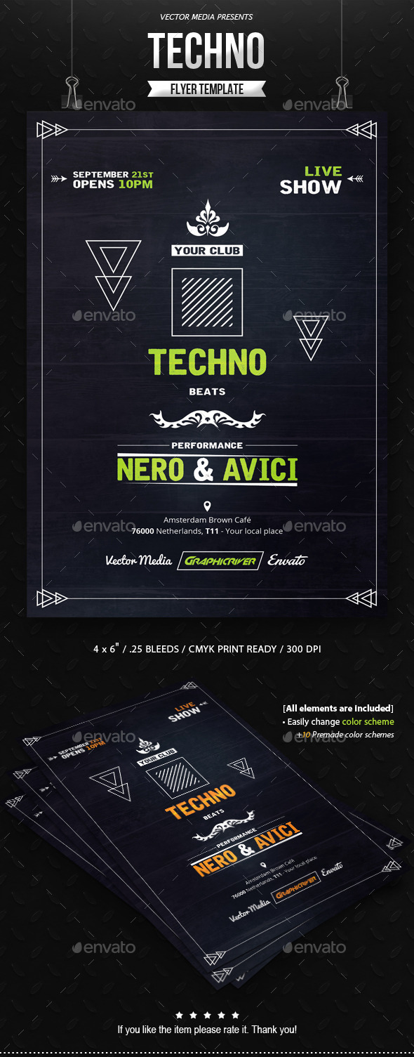 GraphicRiver Techno Flyer 11146128