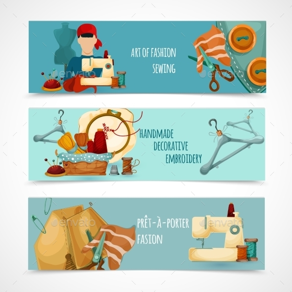 GraphicRiver Sewing Banner Set 11183696