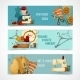 Sewing Banner Set - GraphicRiver Item for Sale