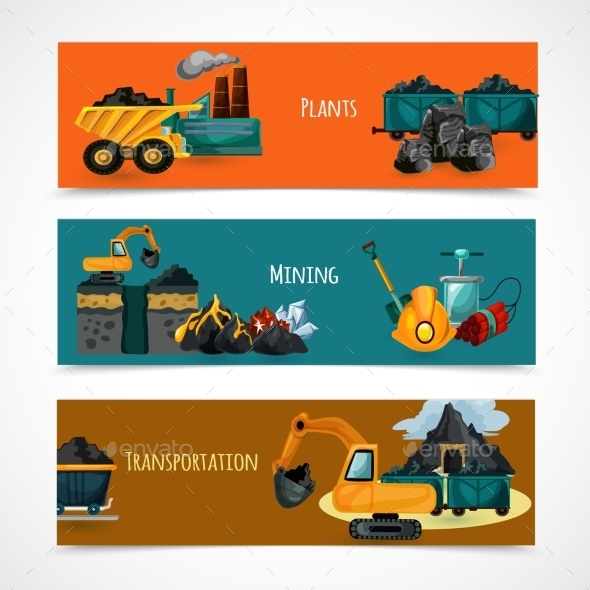 GraphicRiver Mining Banners Set 11183741