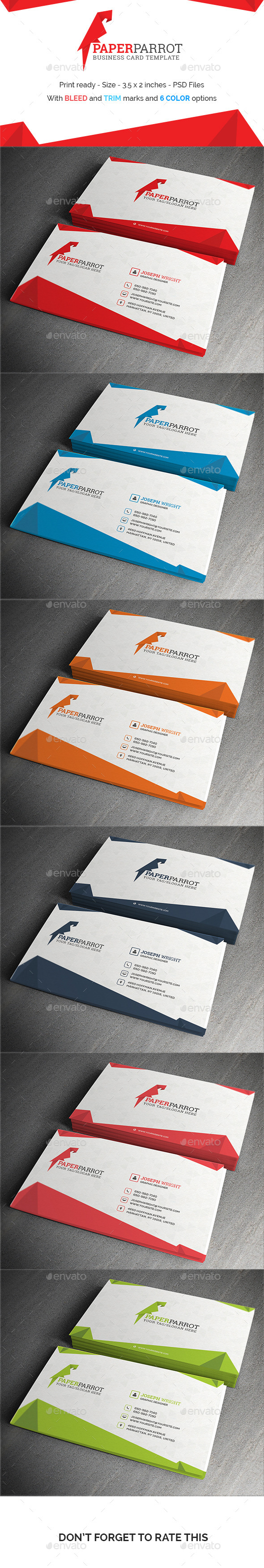 GraphicRiver Paperparrot Business Card Template 11147561