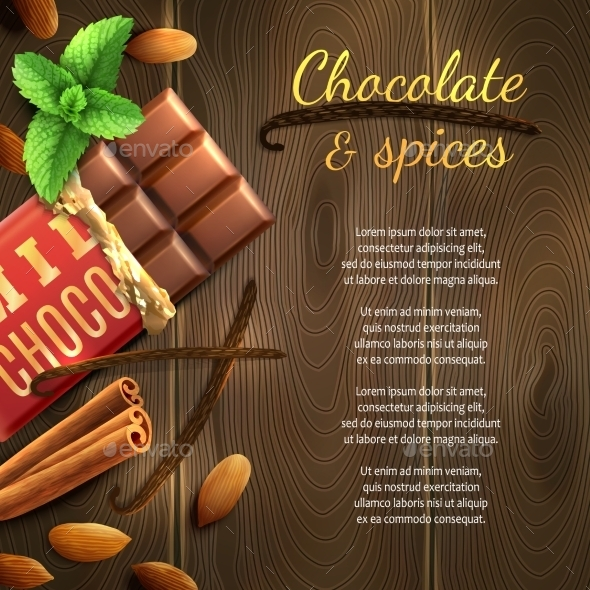 GraphicRiver Chocolate and Spices Background 11183774
