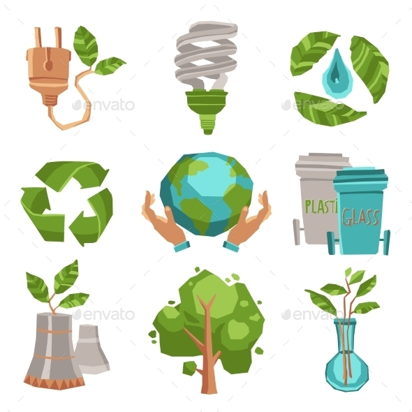 GraphicRiver Ecology Icons Set 11183777