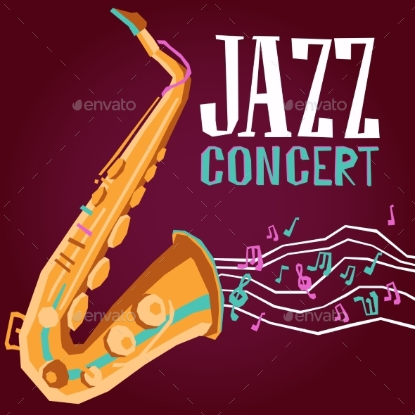 GraphicRiver Jazz Poster with Saxophone 11183778