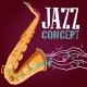 Jazz Poster with Saxophone - GraphicRiver Item for Sale