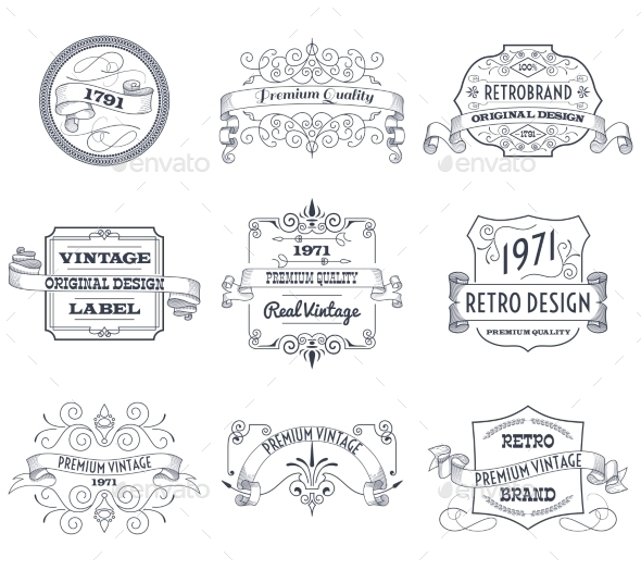 GraphicRiver Vintage Labels Set 11183889