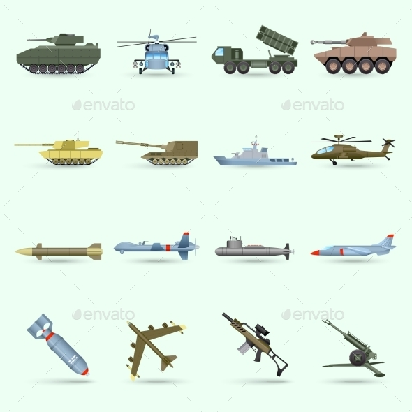 GraphicRiver Army Icons Set 11183899