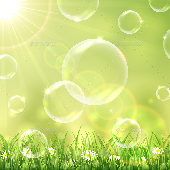 GraphicRiver Nature Background and Bubbles 11183911