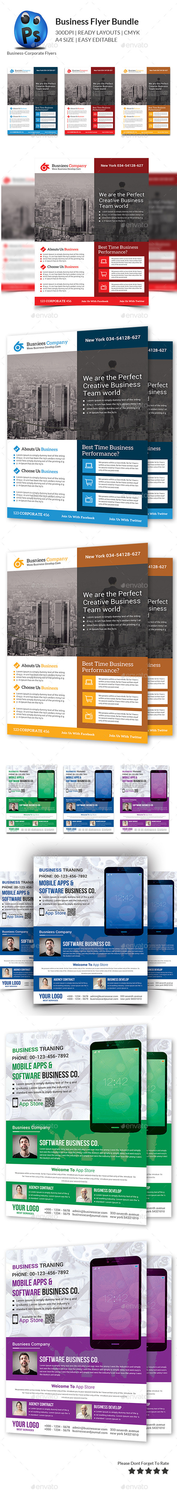 GraphicRiver Corporate Business Flyer Bundle 11184359