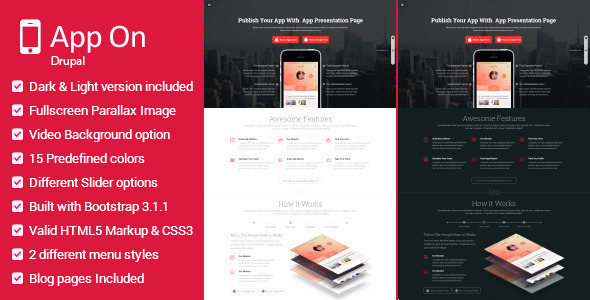 ThemeForest App on Multipurpose Landing Page Drupal Theme 11184368