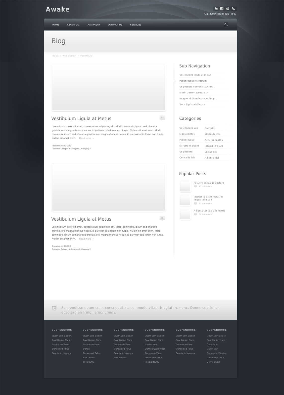 Awake - Powerful Professional HTML Template