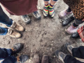 feet of people standing in a circle - PhotoDune Item for Sale