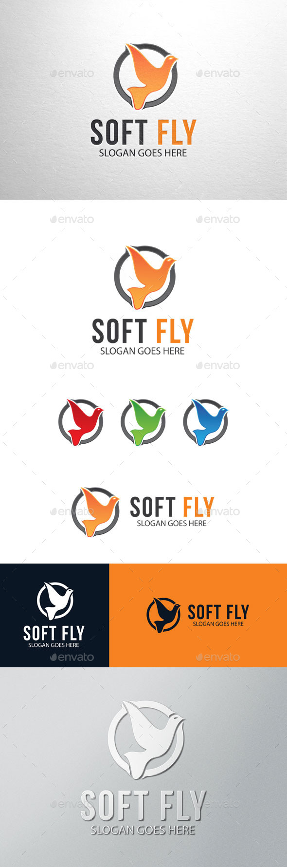 GraphicRiver Soft Fly Bird Logo 11184485