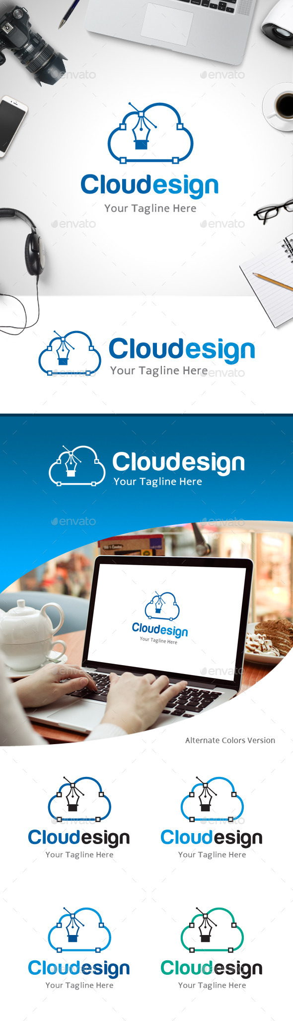 GraphicRiver Cloud Design Logo 11184493