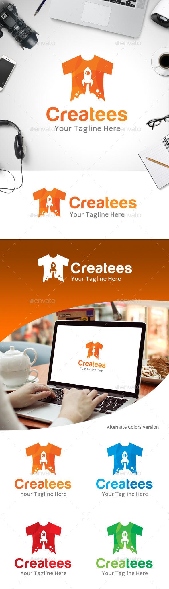GraphicRiver Creative T-shirt Logo 11184503