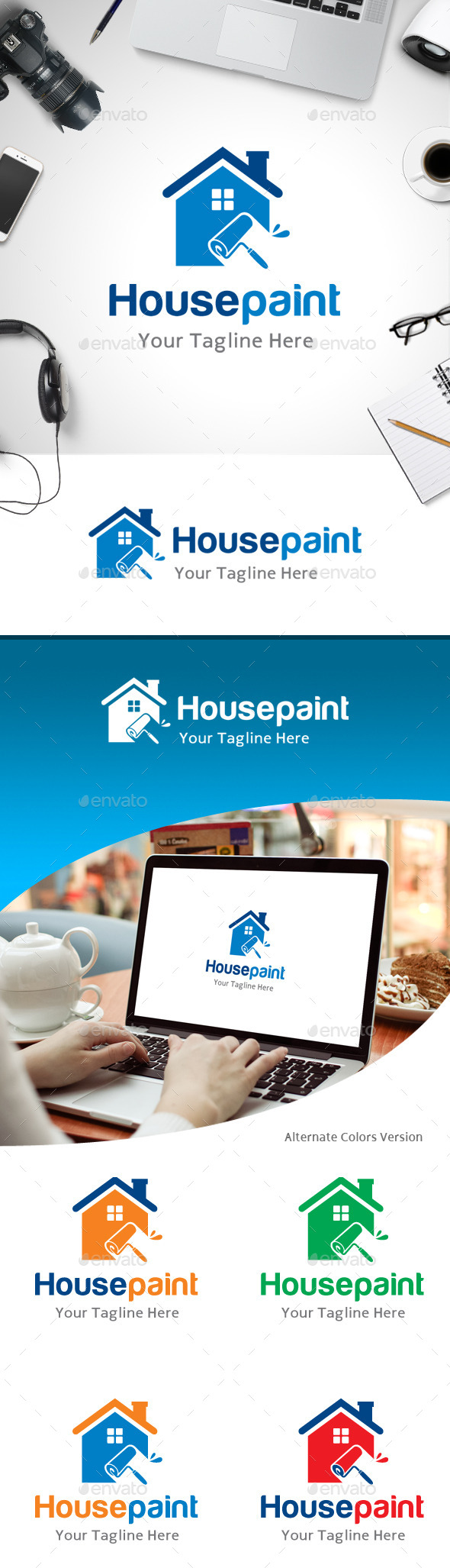 GraphicRiver House Paint Logo 11184563