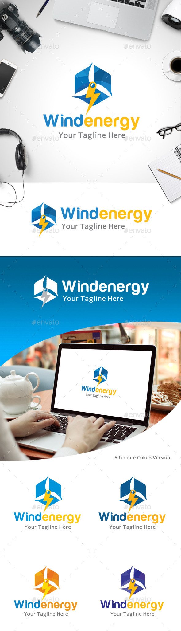 GraphicRiver Wind Energy Logo 11184580