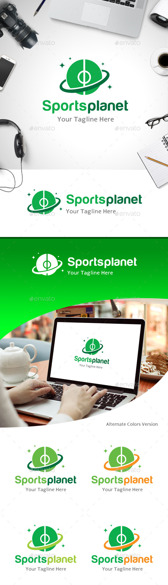 GraphicRiver Sports Planet Logo 11184674