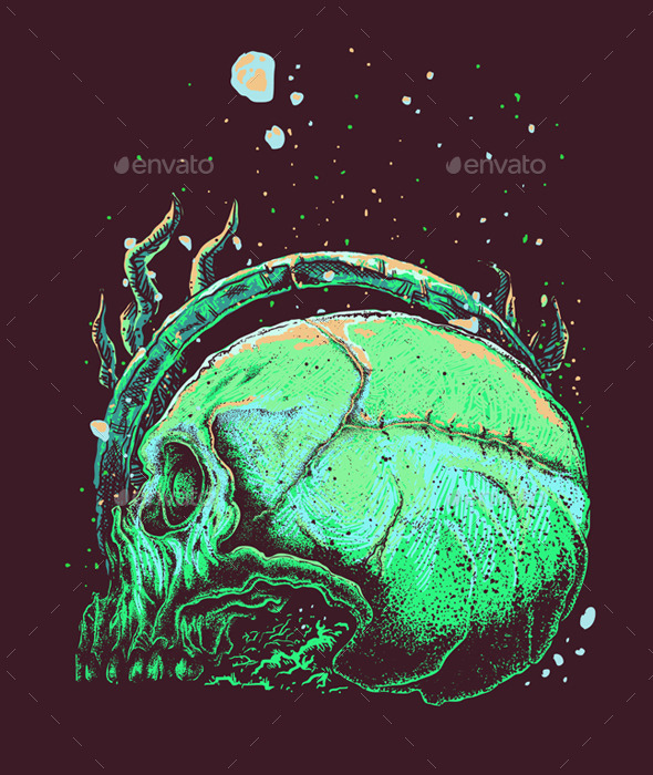 GraphicRiver Skull Underwater 11184675