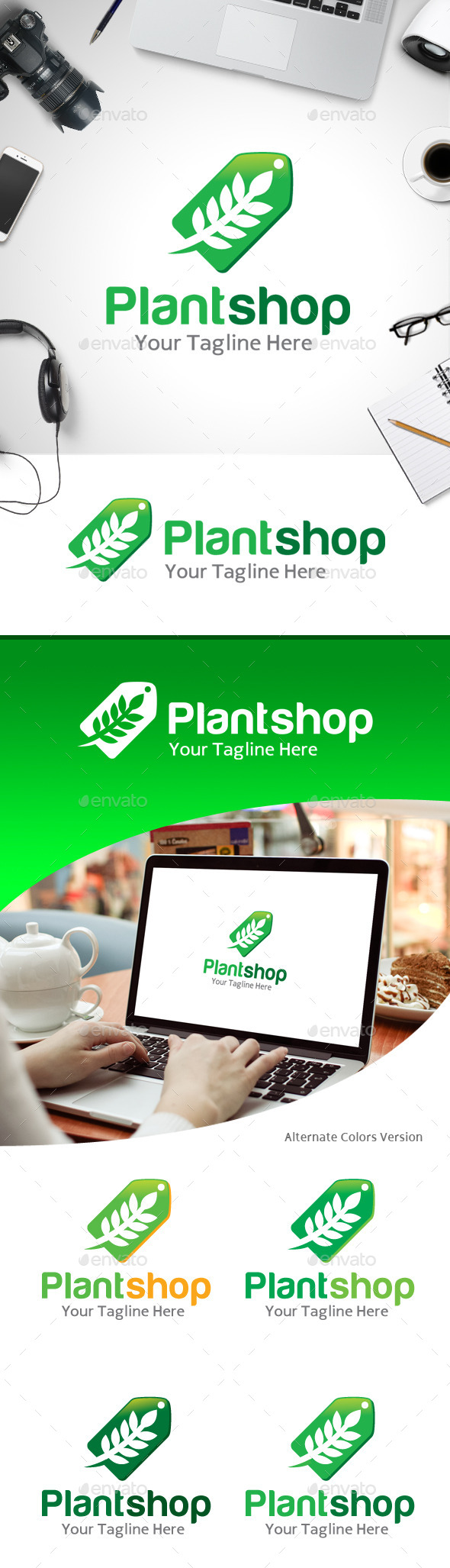 GraphicRiver Plant Shop Logo 11184700