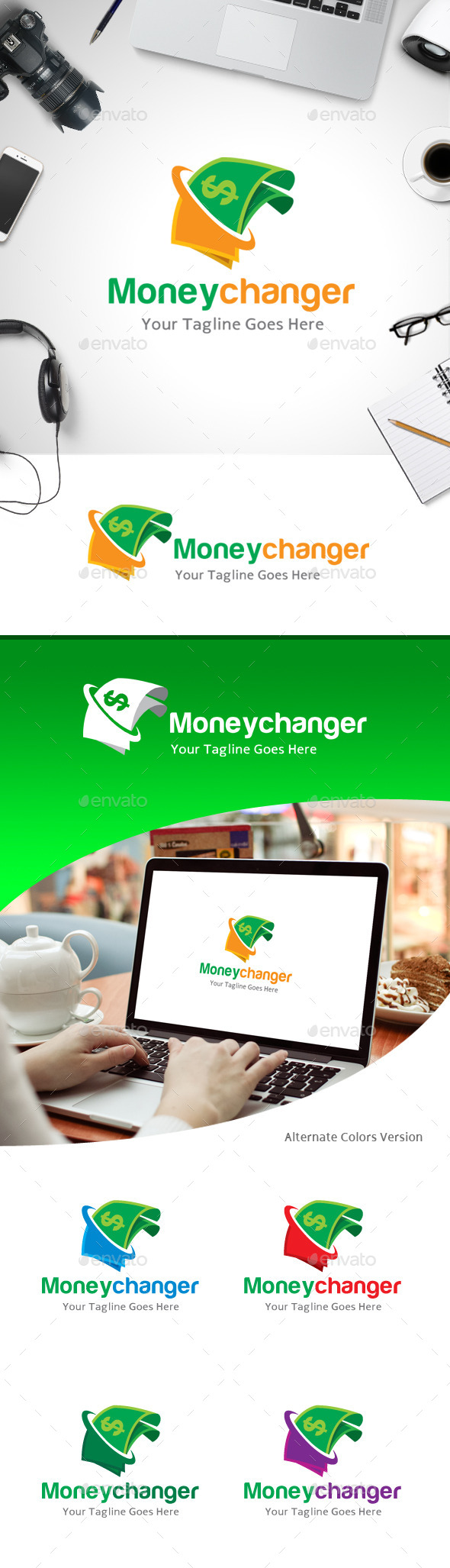 GraphicRiver Money Changer Logo 11184747