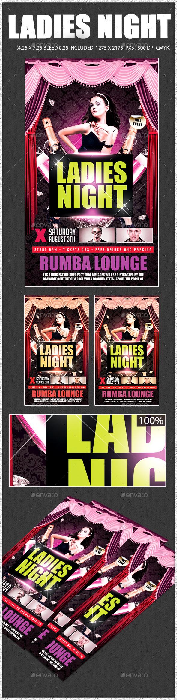 GraphicRiver Ladies Night 11184750