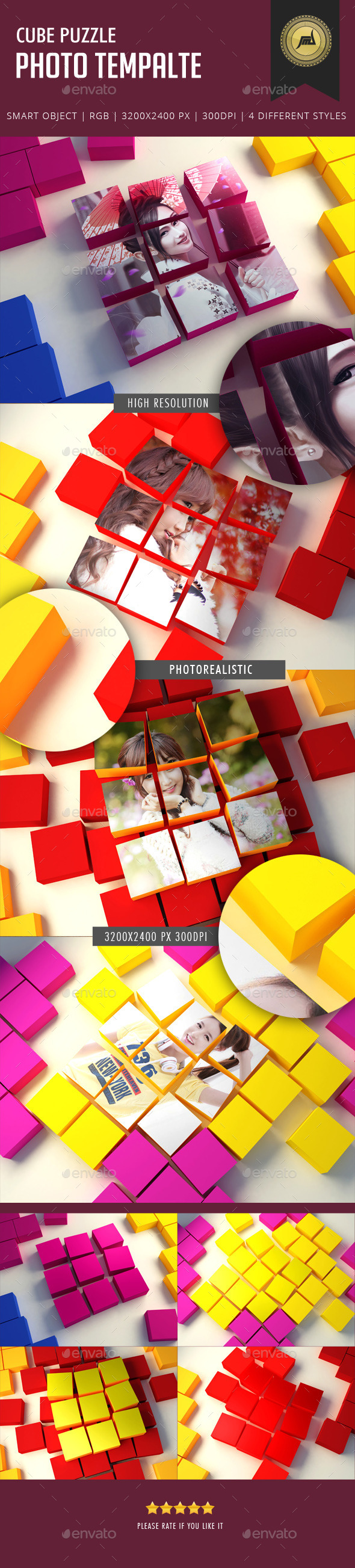 GraphicRiver Cube Puzzle Photo Template 11184797