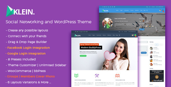 Klein - A Nitty-Gritty Community Theme - BuddyPress WordPress