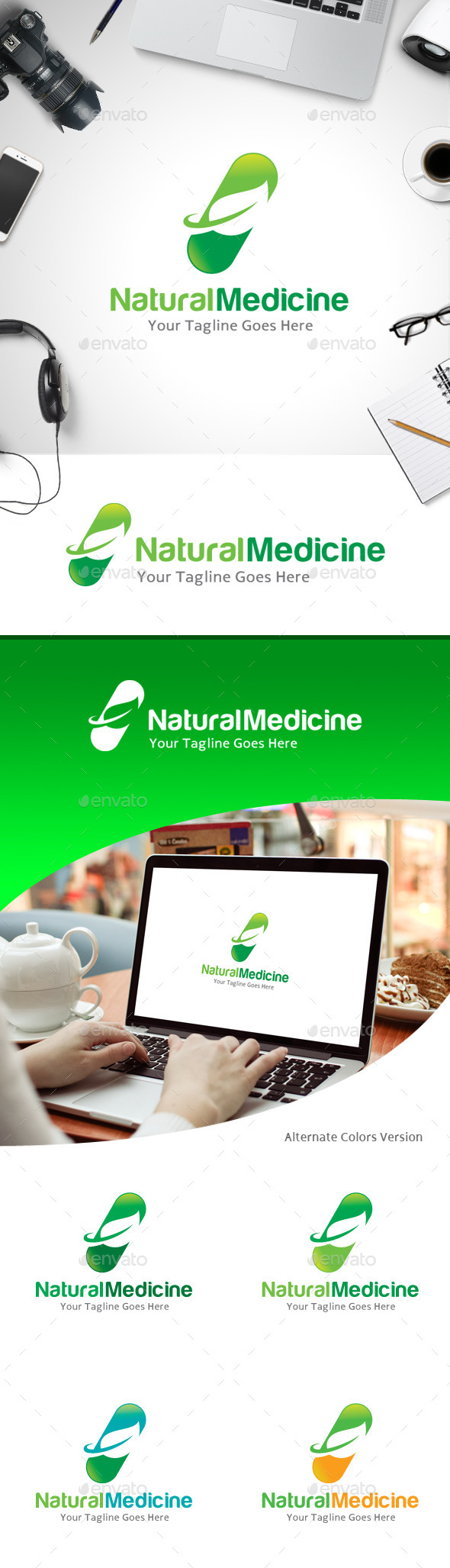 GraphicRiver Natural Medicine Logo 11184800