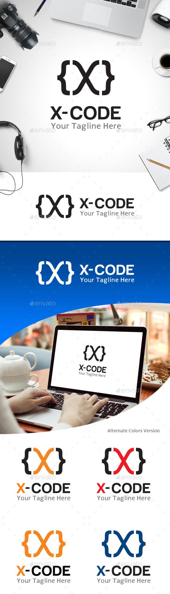 GraphicRiver X Code Letter X Logo 11184853