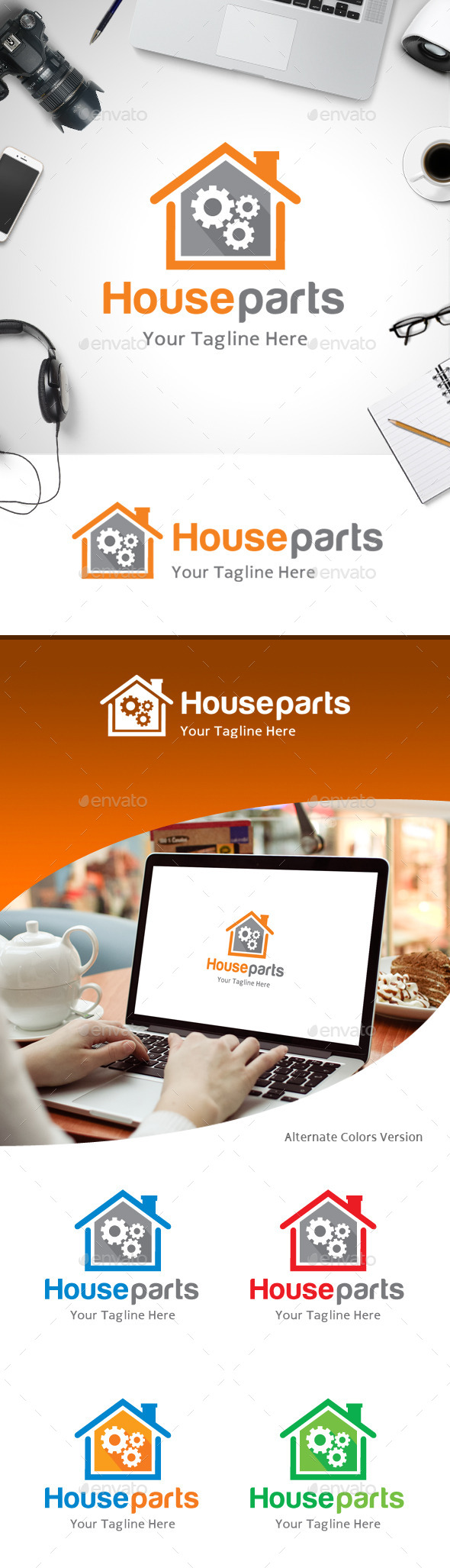 GraphicRiver House Parts Logo 11184861