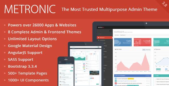 Metronic - Responsive Admin Dashboard Template - Admin Templates Site Templates