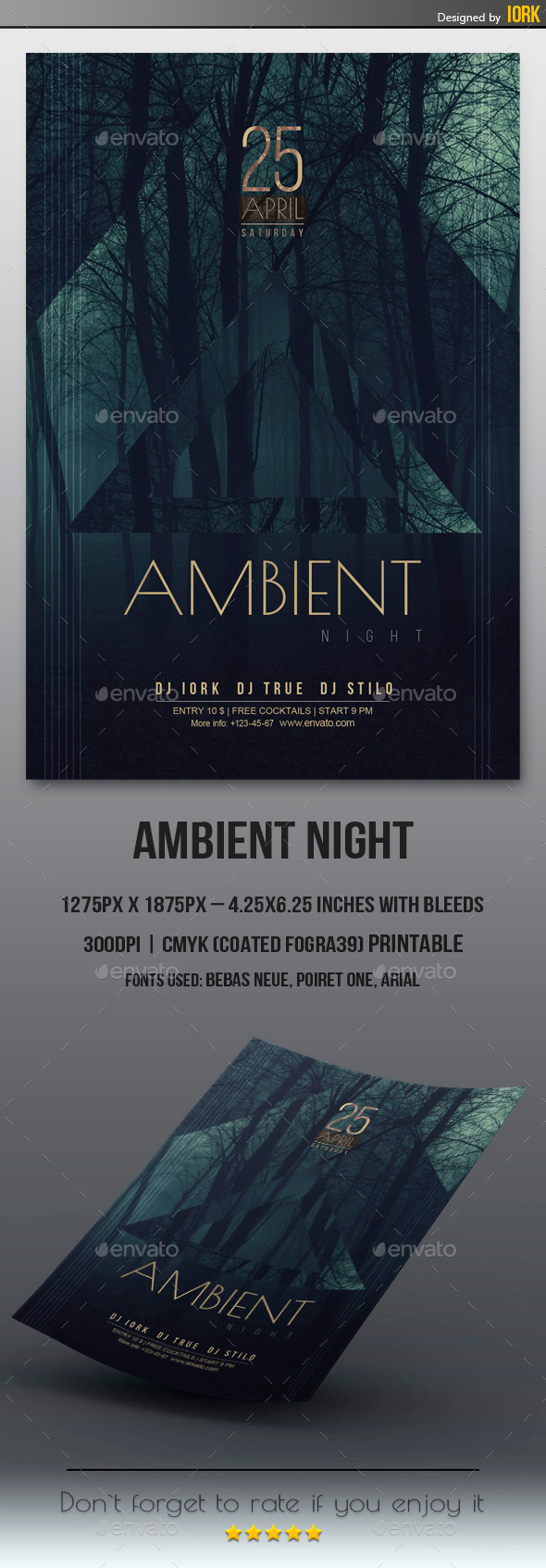GraphicRiver Minimal Ambient Night Flyer 11186414