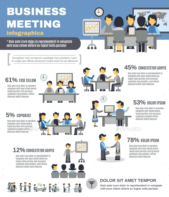 GraphicRiver Meeting Infographics Set 11186452