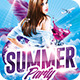 3 Summer Party   Psd Flyer Templates - GraphicRiver Item for Sale