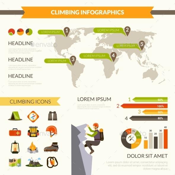 GraphicRiver Climbing Infographics Set 11186634