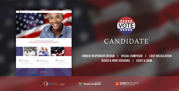 17 - CANDIDATE | Political Campaign, WordPress Theme