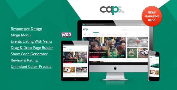 Caps Responsive News/ Magazine Wordpress Theme